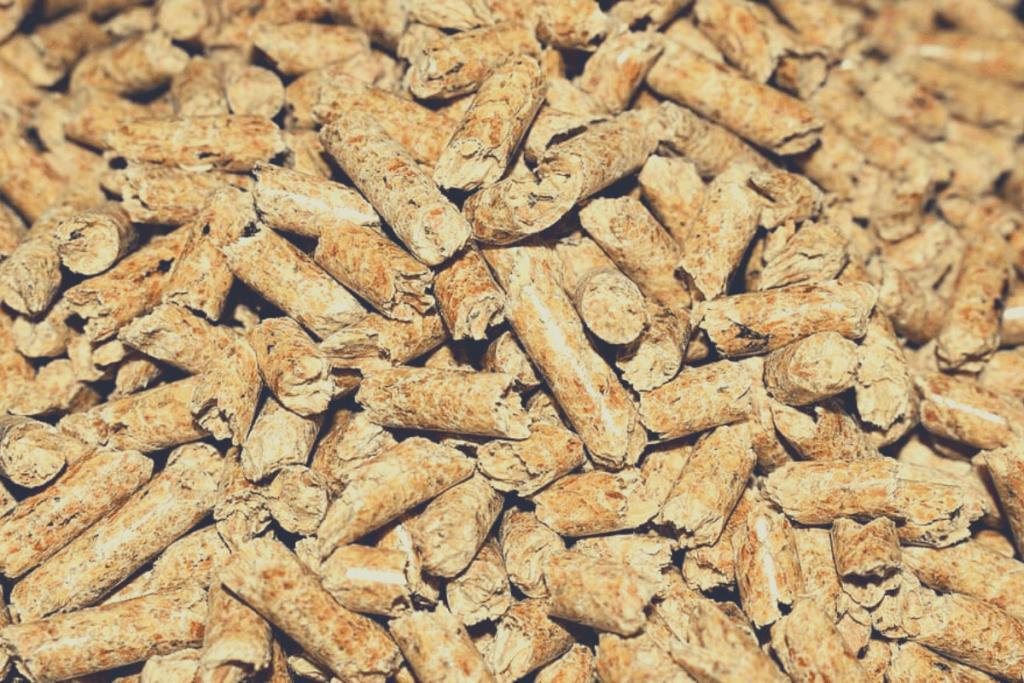 stack of smoker pellets