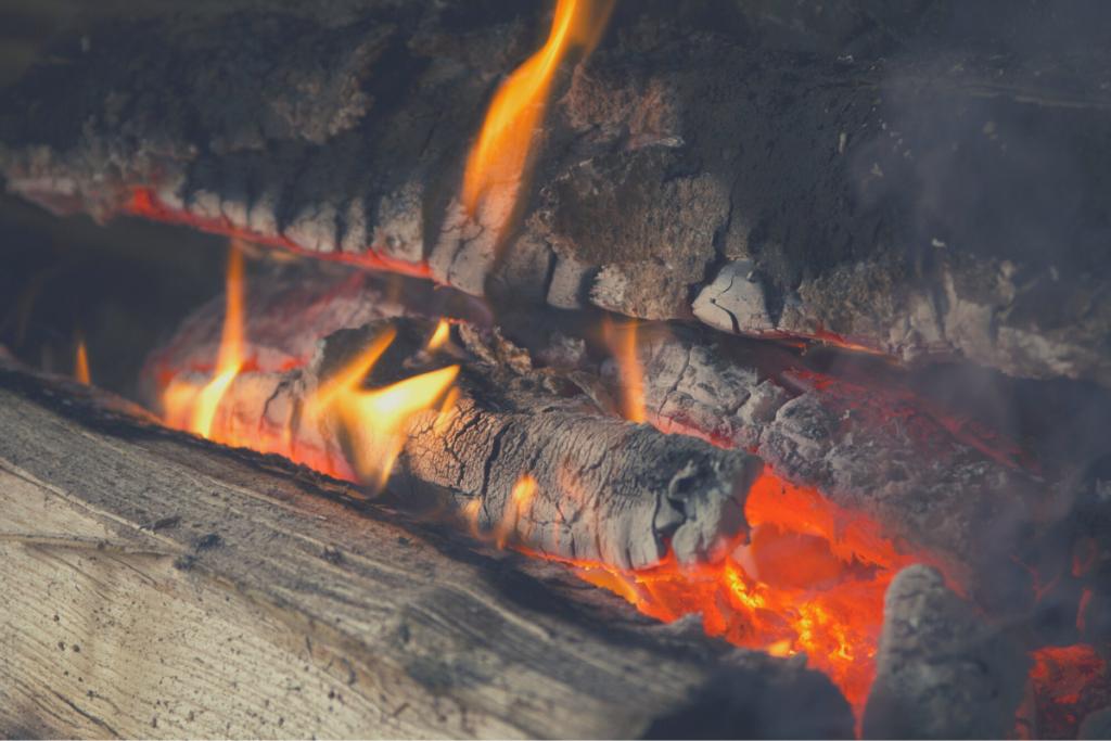 smoldering logs